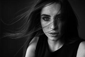 monochrome women portrait nadya face dmitry shulgin