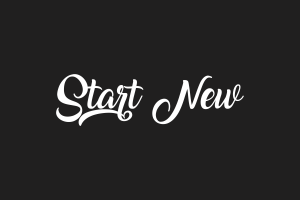 motivational start typography text simple background grey white calligraphy
