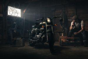 motorcycle garage cigarettes