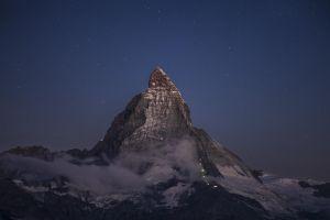 mountain top sky stars