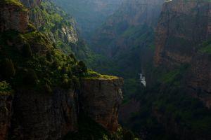mountains environment cliff plants landscape