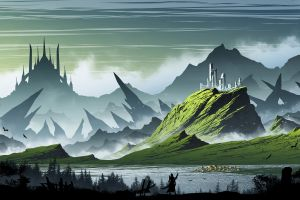 mountains kvacm illustration fantasy art artwork