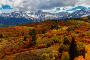 mountains landscape fall nature