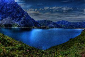 mountains landscape lake