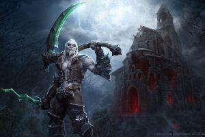 mr jack (luke mancini) necromancer knife night armor sickle men diablo 3: reaper of souls forest church