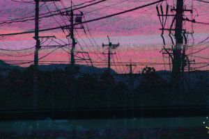 multiple display powerlines glitch art