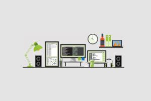 multiple display simple background minimalism computer programming clocks