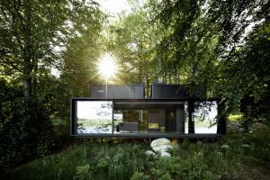 nature architecture modern sunlight forest house