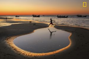 nature jumping reflection children ropes sand boat bangladesh beach water sunset logo national geographic landscape dog