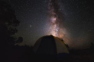 nature milky way landscape stars