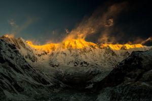 nature mountains annapurna landscape