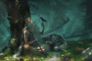nature's prophet celtic crow nature wolf magic druids