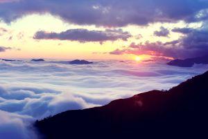 nature sky sunrise sunlight clouds horizon