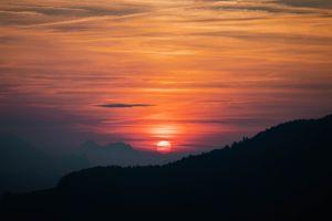nature sunset sky hill