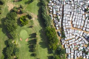 nature trees landscape golf course south africa mist ghetto forest drone photo shack aerial view field slum