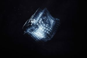 neon glow cube concept art particular blurred