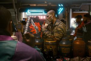 neon market futuristic video games rpg vinil scars cyberpunk 2077