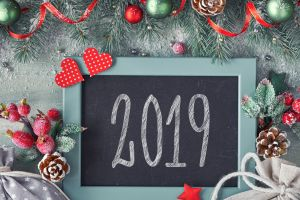 new year 2019 (year) numbers christmas christmas ornaments