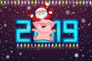 new year numbers 2019 (year) happy new year
