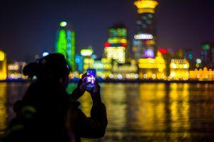 new york city women outdoors cellphone women photography night asian