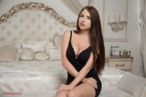 niemira women cleavage dress indoors viper girls women indoors bedroom sitting brunette long hair in bed in bedroom