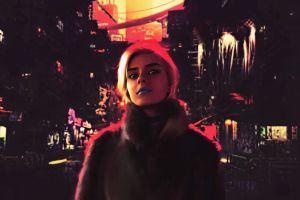 night face fan art cyber futuristic city people women concept art artwork kelly cox portrait cyberpunk digital art dark fantasy art