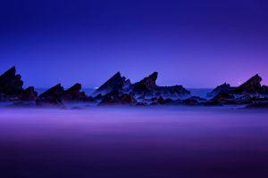 night mist nature mountains