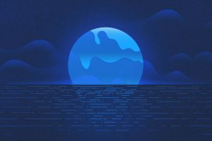 night sea illustration