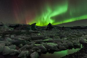 night sky ice nature aurorae