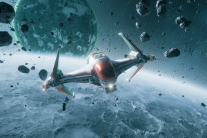no man's sky everspace planet spaceship space science fiction