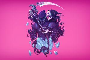 noob saibot video games mortal kombat skull video game art artwork grim reaper