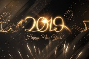 numbers happy new year 2019 (year) new year fireworks