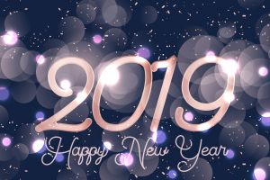 numbers happy new year 2019 (year) new year