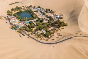 oasis photography peru desert city city aerial view lake sand