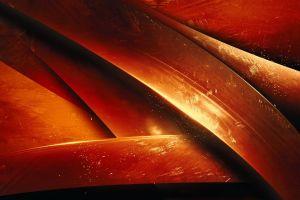 orange artwork digital art render abstract