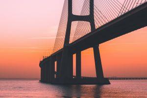 orange portugal lisbon sea bridge