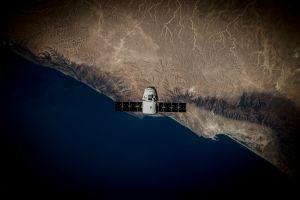 orbital view satellite coast space spacex