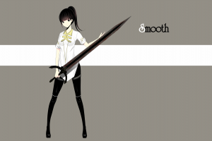 original characters pants shirt weapon long hair [emailprotected]  sword anime girls simple background