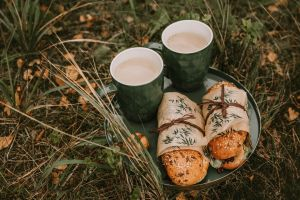 outdoors sandwich food coffee picnic grass