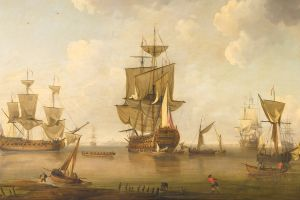painting artwork ship boat