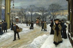 painting classical art artwork winter
