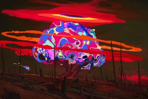 painting digital artwork fire