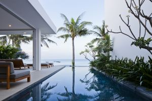 palm trees modern mansions architecture luxury house swimming pool