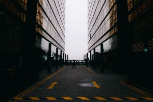 pavements walking dark architecture building minimalism
