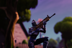 pc gaming screen shot fortnite blue weapon
