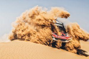 peugeot racing desert vehicle rally car