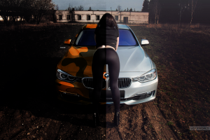 photo manipulation bmw car