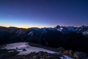 photography nature sunset mountain top clear sky snow blue mountains