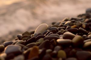 photography pebbles nature beach stones natural light brown blurred