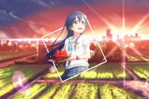 picture-in-picture anime love live! anime girls sonoda umi